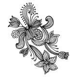 Disegno decorato del fiore Fotografia Stock