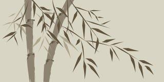 Disegno degli alberi di bambù cinesi Fotografia Stock
