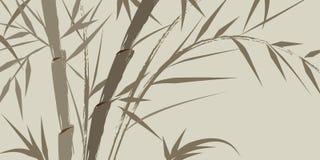 Disegno degli alberi di bambù cinesi Fotografie Stock Libere da Diritti