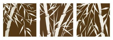 Disegno degli alberi di bambù cinesi Immagine Stock