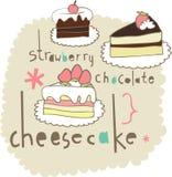 Disegno degli elementi della torta Fotografie Stock
