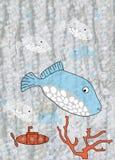 disegno dei bambini con gli animali illustrazione vettoriale