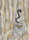 disegno dei bambini con gli animali Fotografie Stock