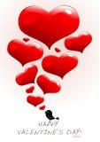 Disegno dei biglietti di S. Valentino Immagini Stock Libere da Diritti