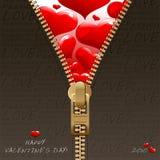 Disegno dei biglietti di S. Valentino Fotografia Stock Libera da Diritti