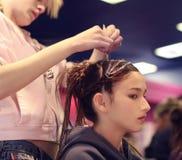 Disegno dei capelli Fotografia Stock
