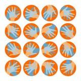 Disegno dei cerchi della mano. Fotografia Stock Libera da Diritti