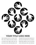 Disegno dei cerchi della mano con lo spazio della copia. Immagine Stock