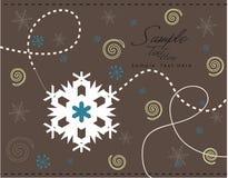 Disegno dei fiocchi di neve Immagine Stock Libera da Diritti