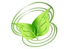 Disegno dei fogli di verde Immagini Stock