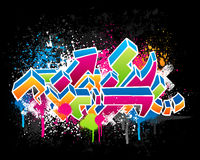 Disegno dei graffiti Fotografie Stock