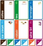 Disegno dei modelli del menu Immagine Stock