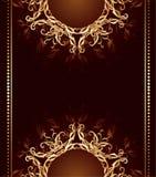 Disegno dei monili su una priorità bassa di colore marrone scuro Fotografia Stock