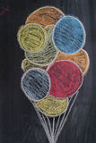 Disegno dei palloni colorati Immagini Stock Libere da Diritti