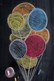 Disegno dei palloni colorati Fotografia Stock Libera da Diritti