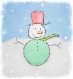 Disegno dei pupazzi di neve Fotografia Stock