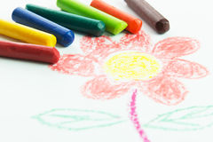 Disegno del bambino Fotografia Stock