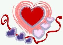 Disegno del biglietto di S. Valentino Immagini Stock Libere da Diritti