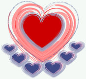 Disegno del biglietto di S. Valentino Fotografia Stock