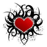 Disegno del biglietto di S. Valentino (incl di vettore) Immagini Stock