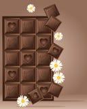 Disegno del blocchetto del cioccolato Fotografie Stock Libere da Diritti