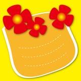 Disegno del blocco per grafici del modello per la cartolina d'auguri Immagine Stock