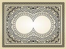 Disegno del blocco per grafici dell'annata Fotografia Stock