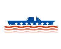 Disegno del blu marino di Stati Uniti Immagini Stock Libere da Diritti