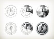 Disegno del buco della serratura Fotografie Stock Libere da Diritti