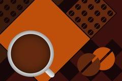 Disegno del caffè di vettore Fotografie Stock