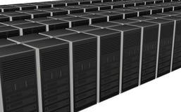disegno del calcolatore dell'azienda agricola del server 3D Immagini Stock Libere da Diritti