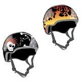 Disegno del casco del pattino Fotografie Stock Libere da Diritti