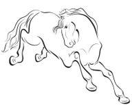 Disegno del cavallo del profilo Fotografia Stock