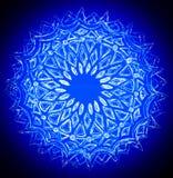 Disegno del cerchio in bianco ed in blu Fotografie Stock Libere da Diritti