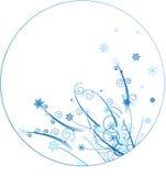 Disegno del cerchio dell'ornamento di inverno Immagine Stock Libera da Diritti