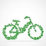Disegno del ciclo con l'icona della natura di eco Fotografia Stock Libera da Diritti