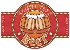 Disegno del contrassegno della birra Immagini Stock