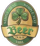 Disegno del contrassegno della birra Fotografia Stock