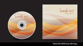 Disegno del coperchio del CD o di DVD di vettore Immagini Stock Libere da Diritti