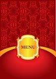Disegno del coperchio del menu Immagine Stock