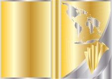 Disegno del coperchio di affari di vettore Fotografie Stock