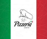 Disegno del coperchio il menu per la pizzeria Fotografia Stock Libera da Diritti