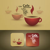 Disegno del coperchio o dell'aletta di filatoio - tazza di caffè Fotografie Stock Libere da Diritti
