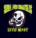 Disegno del cranio di Grunge Fotografia Stock
