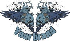 Disegno del cranio di Grunge Fotografie Stock Libere da Diritti