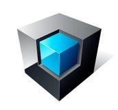 Disegno del cubo 3d Fotografia Stock Libera da Diritti