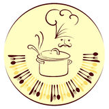 Disegno del cuoco unico Fotografia Stock Libera da Diritti