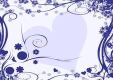 Disegno del cuore di inverno Fotografia Stock Libera da Diritti