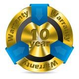 disegno del distintivo della garanzia da 10 anni Fotografia Stock