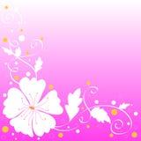Disegno del fiore bianco illustrazione vettoriale